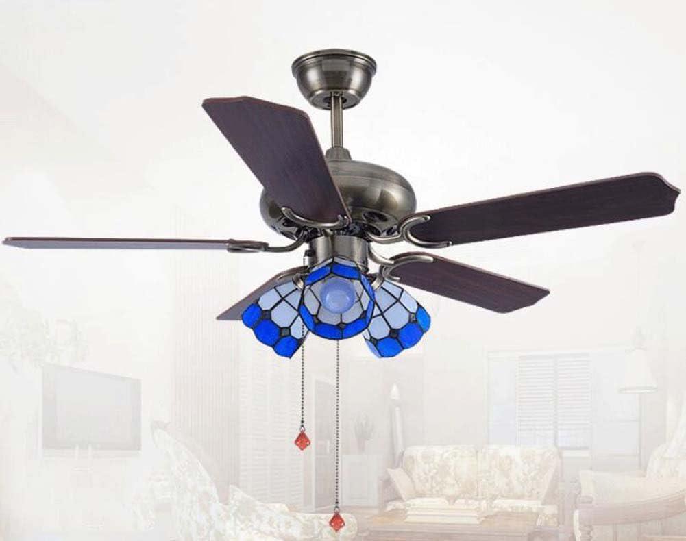 ventilador de Techo De LED con lámparas de estilo Tiffany Luz ...