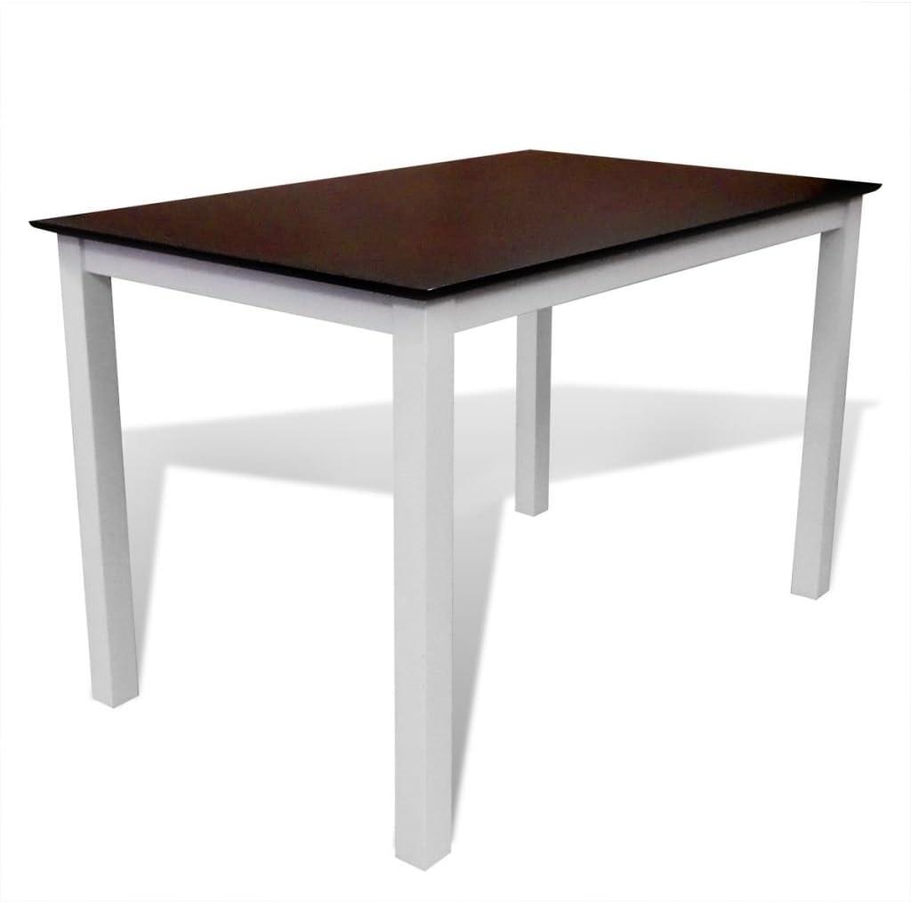 vidaXL Esstisch Esszimmer Tisch Küchentisch Massivholz 45 cm Braun/Weiß