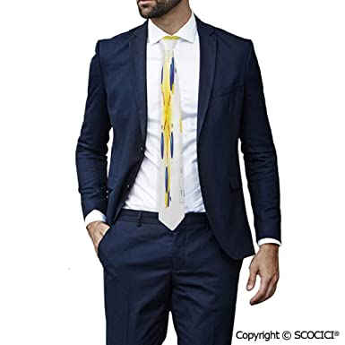 SCOCICI Corbata de cuello para hombre con impresión de ...