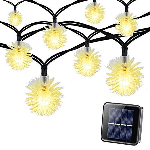 Solar cadena luz, Magicfly 8,2m 50LED Chuzzle Bola Solar fairylights, 8modos impermeable, interior/exterior Luz...