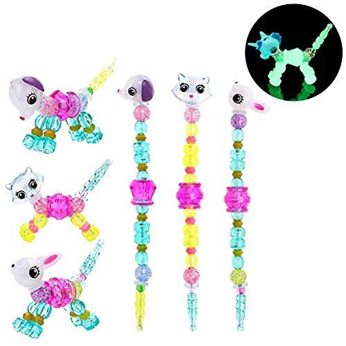 Womdee Magical Pets Bracelets, Colorful Jewel-Like Beads