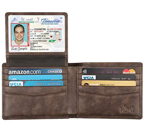 Wallet for Men-Genuine Leather RFID Blocking Bifold Stylish Wallet With 2 ID Window (Coffee-galaxy)