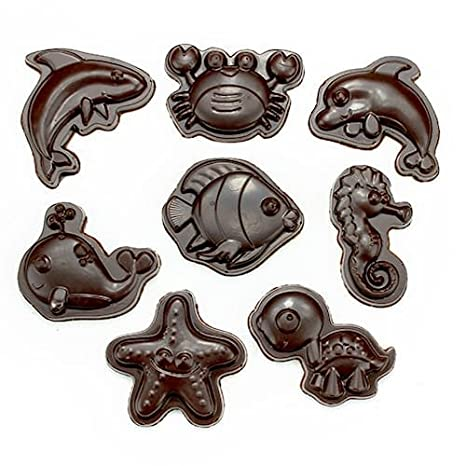 Policarbonato molde para Chocolate (criaturas del mar (Set)