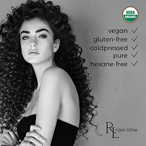 Organic Castor Oil For Hair Growth Eyelashes Eyebrows And Skin Cold Pressed Hexane Free Haircare By Rain Lillie