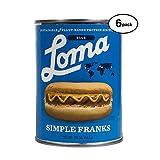 Loma  Linda Blue - Plant-Based - Simple Franks (20 oz.) (Pack of 6) - Kosher