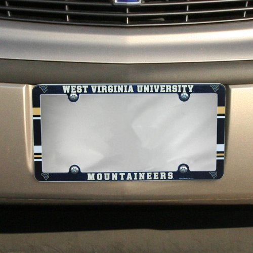 (NCAA License Plate with Full Color Frame, West Virginia Mountaineers)