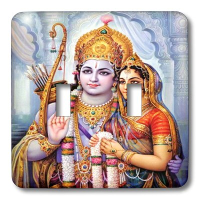 3dRose lsp_100473_2 Hindu Worship In India Double Toggle Switch