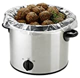 PanSaver 100 Count EZ Clean Slow Cooker Liners and Cooking Bags Perfect For Cholent, Stews, Fish and Soups 3 to 6 Quart or 9x13 inch Oven Trays - FDA certified, NSF approved, KOFK Certified Kosher