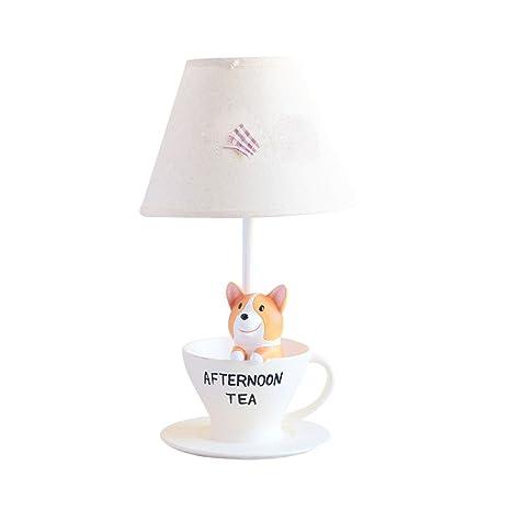 Amazon.com: Creativa lámpara de mesa Corgi para niños de ...