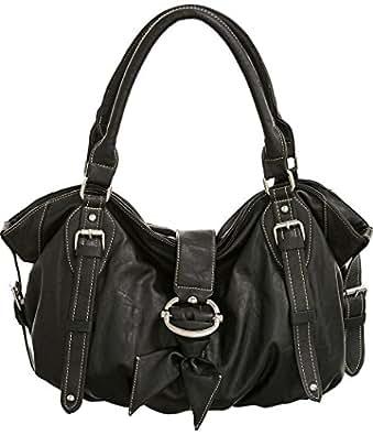 Natalia Black Large L&S Hobo Handbags