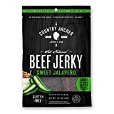 Country Archer 100% Grass-Fed Gluten Free Beef Jerky, Sweet Jalapeño, 1.5 Ounce (Pack of 12)