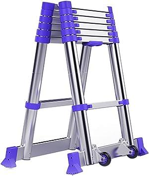 AFDK Escalera extensible extensible plegable de aluminio profesional multiusos, 2.65M + 2.65M / 2.95M + 2.92M / 3.25M + 3.25M,1.45m + 1.45m / 4.8ft + 4.8ft: Amazon.es: Bricolaje y herramientas