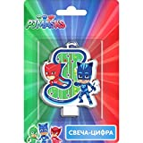 PJMASKS Сandle on a Cake Topper 3 Years Owlette Catboy Must Have Accessories for the Party Supplies and Birthday
