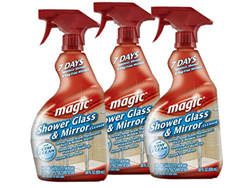 Magic Shower Glass  Mirror Cleaner Trigger, 28 fl oz (Pack of 3) in USA