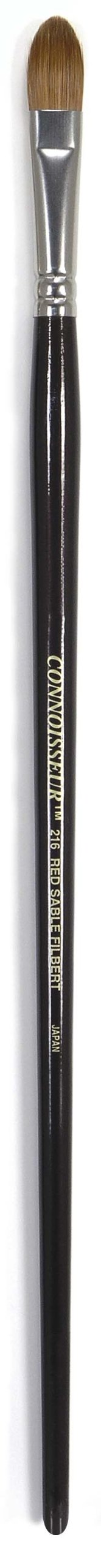 Connoisseur FG125 Pure Red Sable Brush, 6 Filbert by Connoisseur