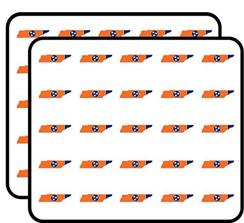 Orange Tennessee Shaped Flag (Volunteer tn State Tenn) Sticker for Scrapbooking, Calendars, Arts, Kids DIY Crafts, Album, Bullet ()