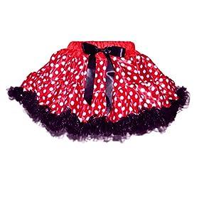 - 51AlhVKlnBL - Red/White Polka Dots Costumes for Birthday Party-Tutu w/Tank Top & Headband