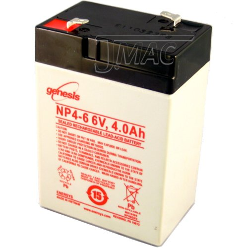 Enersys Genuine Np4 6 6V 4Ah Sealed Lead Acid Battery