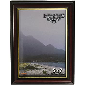 Imperial Frames 11 by 14-Inch/14 by 11-Inch Picture/Photo Frame, Round, Mahogany Molding with Gold Leaf