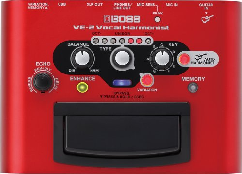 Boss VE-2 Vocal Harmonist Vocal Stompbox with Effects and Guitar-Driven Harmonies