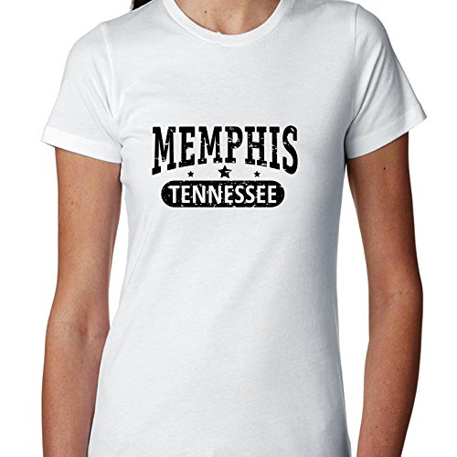 Hollywood Thread Trendy Memphis, Tennessee with Stars Women's Cotton T-Shirt