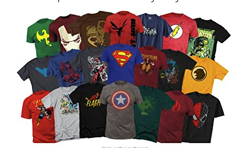 Mens Marvel Superhero T-Shirts Mystery Deal of 2 (Different) BY PrimeTrading