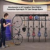 Bike Rack for Garage, 6 Bike Wall Mount 5 Helmet