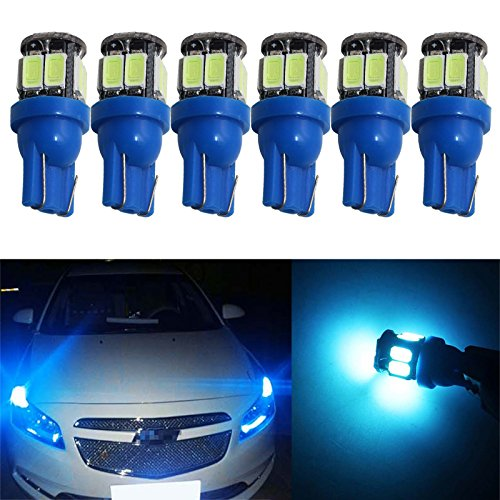 2014 Dodge Dakota Hood - YaaGoo 6pack Compact Small bulb License Plate Lights Lamp,T10 168 194 2825 W5W,ice blue,6pcs