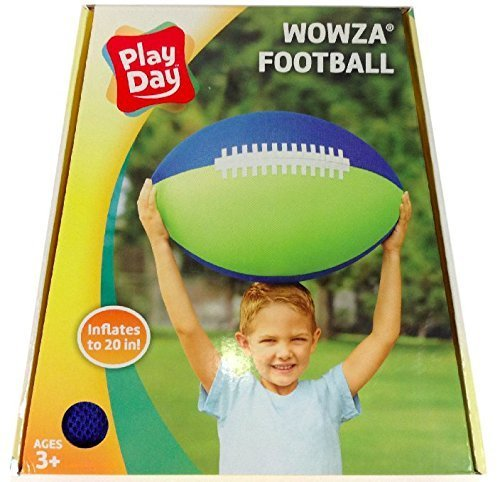 Play Day Inflatable Football Inflates to 20 inches by Wowza