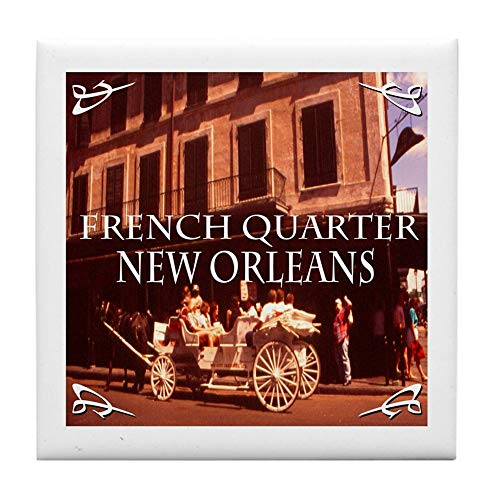 - CafePress New Orleans French Quarter Tile Coaster, Drink Coaster, Small Trivet