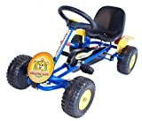 Cadet Racing Go Kart - Robust steel frame - IDEAL STARTER go kart - Adjustable seat with Mud Guards and Imitation Exhaust- 3-5 yrs old.