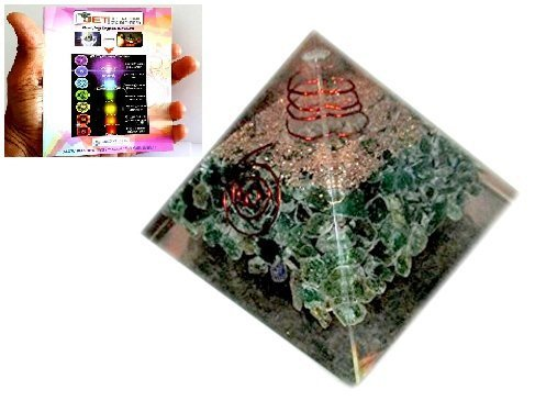 Jet International Green Aventurine Chakra Orgone Pyramid Free Crystal Therapy