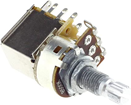 amazon.com: b500k push pull split knurled long shaft audio taper ... push pull b250k potentiometer wiring diagram  amazon.com