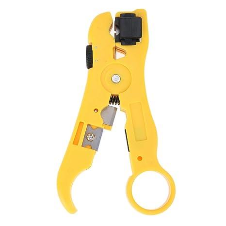 Cable Pelacables y cortador para UTP CAT5 CAT6 redondo/plano coaxial coaxial pelacables Universal chaqueta