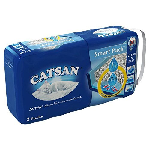 Catsan Smart Pack Cat Litter 2 Inlays 4kg (PACK OF 6)