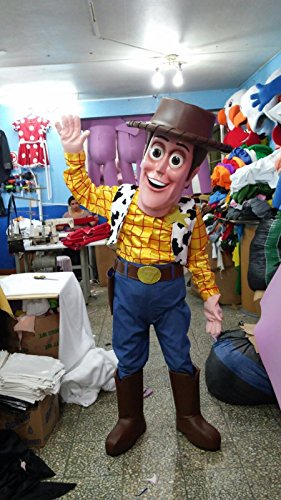 Woody Mascot Costumes (WOODY TOY STORY COWBOY MASCOT FIBER GLASS HEAD COSTUME ADULT SIZE)