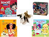 Childrens Gift Bundle - Ages 3-5 [5 Piece] - Ni Hao Kai-Lan Edition Memory Game - Melissa & Doug Close Call Floor 48 Piece Puzzle Toy - Ty Beanie Baby - Bernie the St. Bernard - Its Mine. A Book
