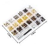 Leather Rivet Kit 364 pcs 4 Style Metal Snaps