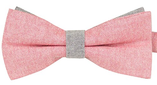 Panegy Mens Classic Self-tie Wedding Party Tuxedo Cloth Bowtie Pink