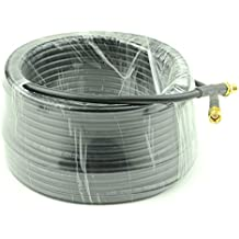 15-Meter(49.2 Ft) Low Loss RG58 SMA Female to SMA Male Extension Coaxial Cable Connector and Two-Way Radio Applications
