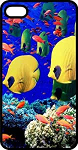 Salt Water Reef Fish Black Plastic Case for Apple iPhone 5 or iPhone 5s