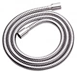Danze D469020 Metal Interlock Shower Hose with Brass Conical Nuts, 72-Inch, Chrome