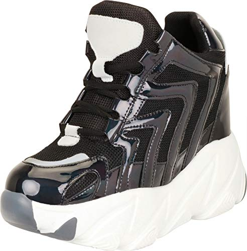 - Cambridge Select Women's 90s Ugly Dad Rave Hidden Wedge Extra High Chunky Platform Fashion Sneaker,6 B(M) US,Black