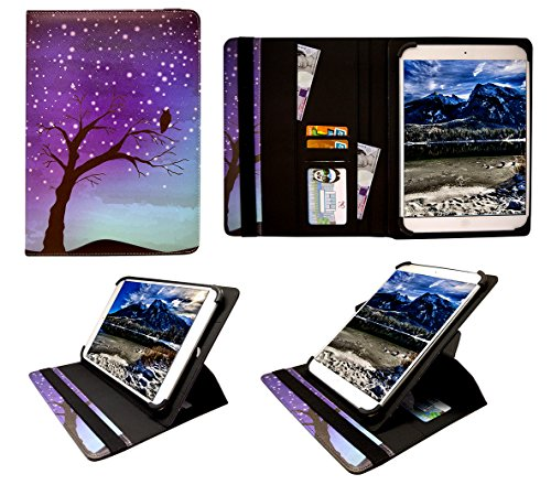 Sweet Tech Amazon Kindle Fire Hdx 7   2013 3Rd Gen  7  Inch Night Sky Universal 360 Degree Rotating Wallet Case Cover Folio With Card Slots  7 8 Inch