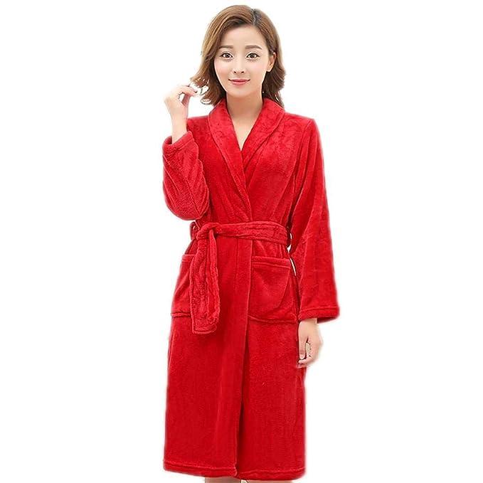 Bata De Baño para Mujer con Bata De Mujeres Algodón Casuales Y Diseño De Rayas De Algodón Pijama Y Camisón: Amazon.es: Ropa y accesorios