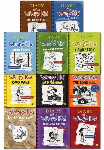 Diary of a Wimpy Kid Collection 11 Books Set Pack (1-11) by Puffin (Image #1)