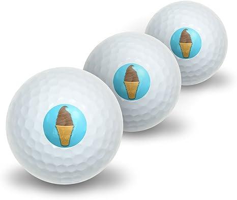 Chocolate helado – postre comida novedad pelotas de golf 3 ...