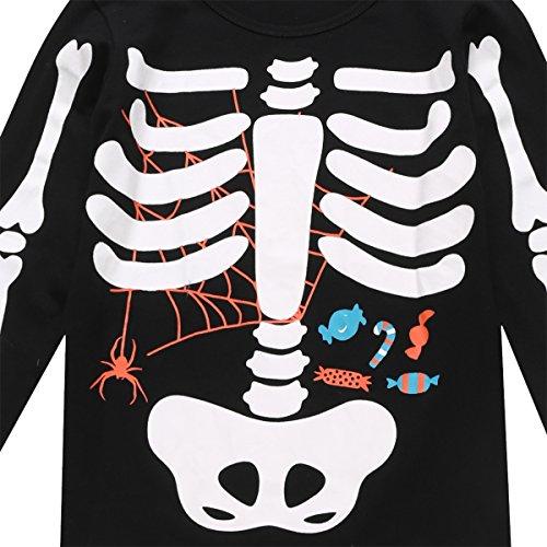 Little Fancy Halloween Unisex Boys' Kids Skeleton Costume Outfit Pants Set (7T) by Little Fancy (Image #3)