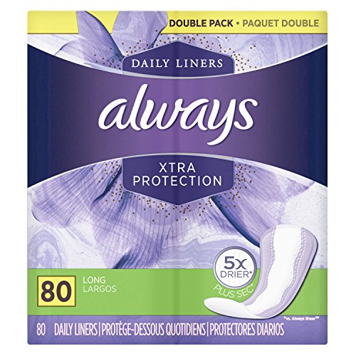 Xtra Protection Daily Liners, Long 80 Count