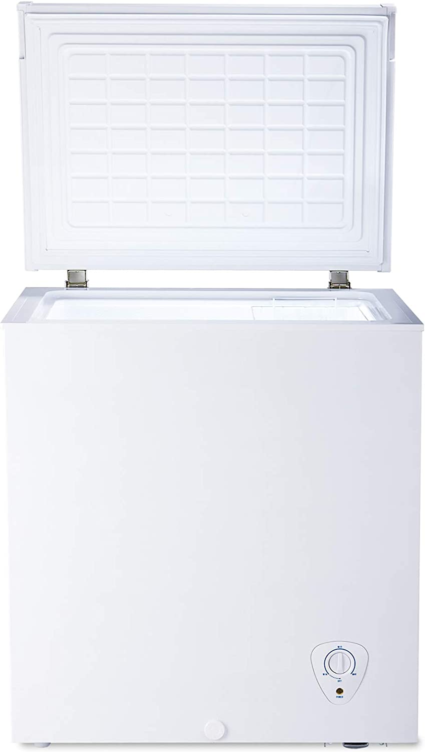 SMETA 5 cu ft Chest Freezer with Removable Baskets Free-Standing Top Open Door Deep Freezer, White